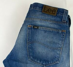 Lee-Uomo-Gamba-Dritta-Jeans-Taglia-W34-L33-ACZ915
