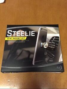 STEELIE CELL PHONE CAR VENT MOUNT KIT IPHONE GALAXYS UBER GPS LIFEPROOF STVK11R8
