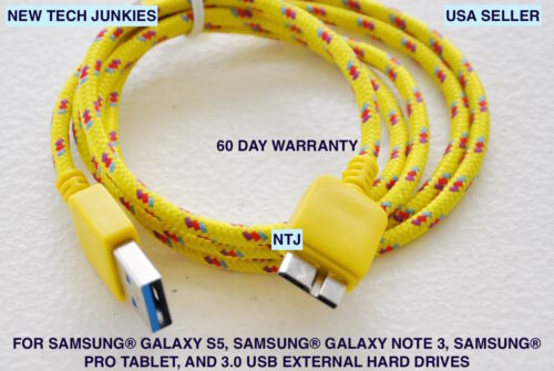 Braided 3.0 USB data power cord Charger Cable For Samsung Galaxy S5 Note 3 N9002