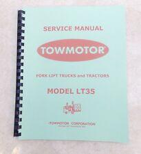 Towmotor Model Lt35 Service Manual Circa 1950 Scanned Amp Bound Copy