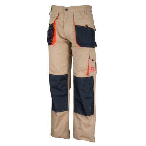 NUOVO lavoro Pantaloni URG-C Beige Pantaloni sicurezza protezione urgent Pantaloni 46-62 TOP!