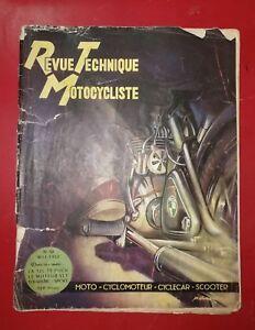 RTM revue techniq motocyclist moto n°50 mai 1952 125 Puch type TT moteur vlt