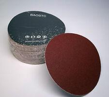 """BAOSTC 5"""" no holes P240 hook and loop sanding disc,aluminum oxide,50PACK"""