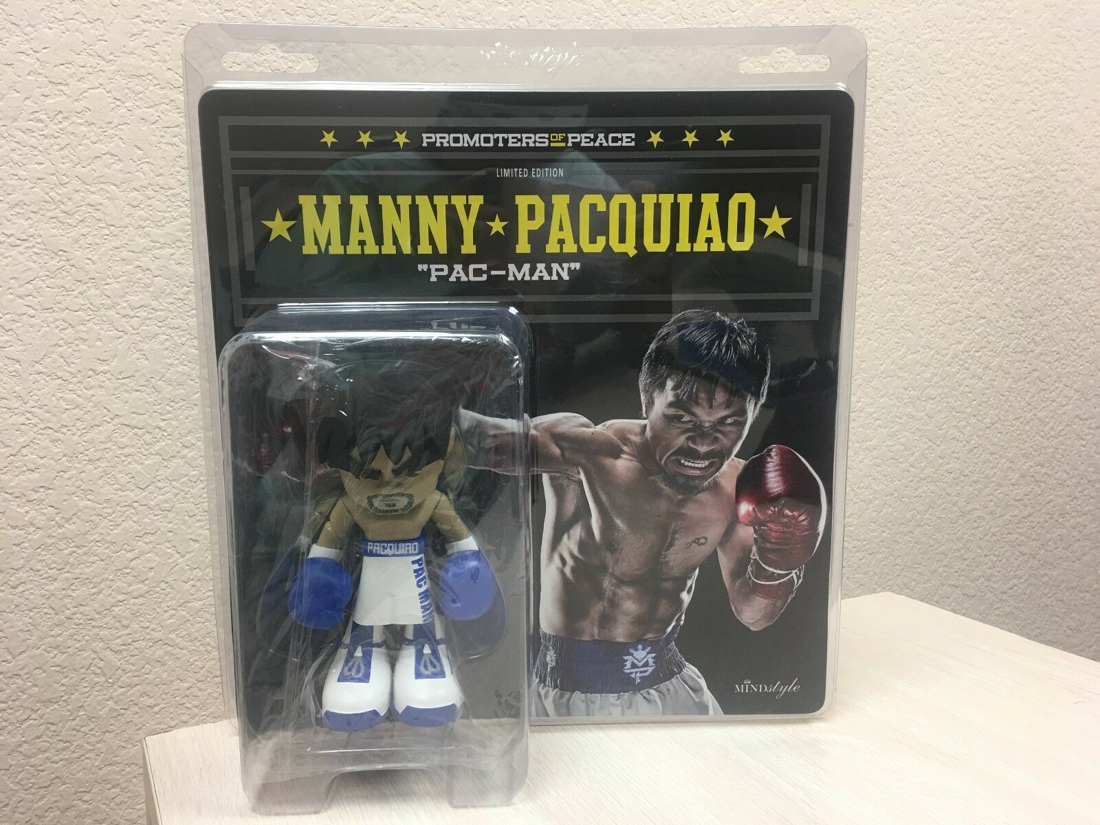 Promoters Peace MANNY PACQUIAO Pac-Man Mindstyle Blau Weiß Original 7