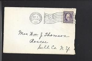 ROCKVILLE-CENTER-NEW-YORK-1918-FAR-RATE-COVER-LETTER-ENCL-NASSAU-CO-1893-1933