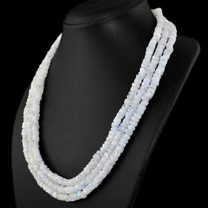 530-00-Cts-Natural-Blue-Flash-Moonstone-Round-Shape-Beads-3-Strand-Necklace