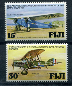 Fiji-Island-MINT-Stamps-Collection-MNHOG-British-Colonies-Aviation-Flowers-Queen