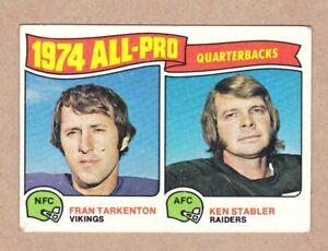 1975-Topps-208-Fran-Tarkenton-Ken-Stabler-All-Pro-Quarterbacks-Excellent-cond
