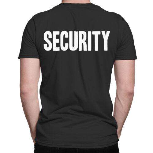 Mens SECURITY T-Shirt Work Wear Doorman Bouncer Nightclub Club Uniform Top Tee