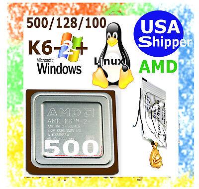 Plus 500 MHz CPU K6-2 K6-3 NEW 500//128//100 Socket 7-Super 7 ACTUAL PICTURES