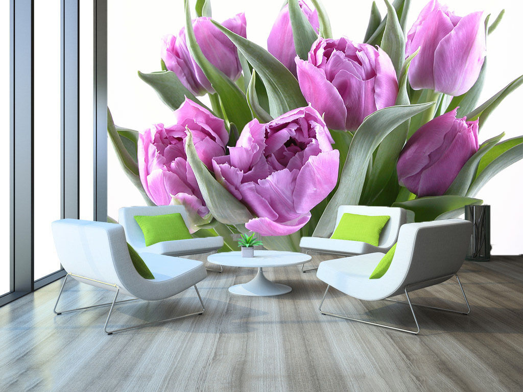 3D Beautiful Purple Tulips 205 Wall Paper Wall Print Decal Wall AJ Wall Paper