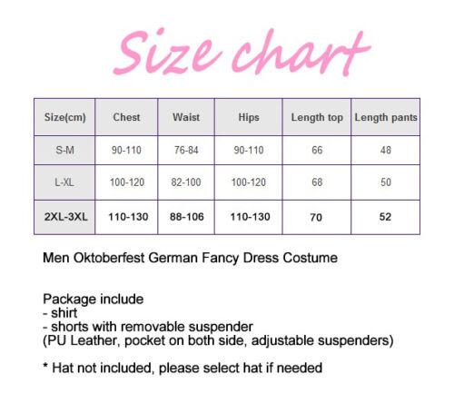 Mens Deluxe Lederhosen Oktoberfest Costume German Brown Faux Leather Outfits