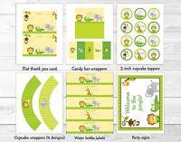 Bright Safari Jungle Animals Printable Birthday Party Package