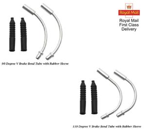 2pcs Brake Noodle V Brake Cable Guide Hose Flexible MTB Folding Bike Bicycle