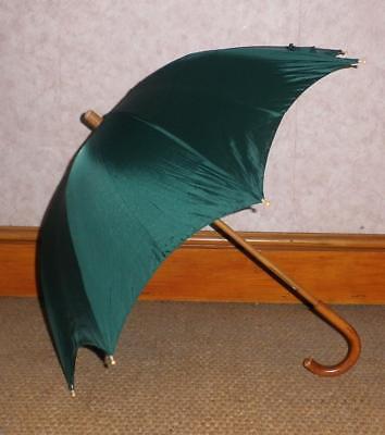 Ben Informato Superba Vintage Brigg Ombrello Di Londra Con Nylon Baldacchino Verde Alto 67cm-mostra Il Titolo Originale Calcolo Attento E Bilancio Rigoroso