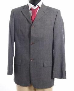 JOOP-Sakko-Jacket-Gr-50-grau-meliert-Einreiher-3-Knopf-S770