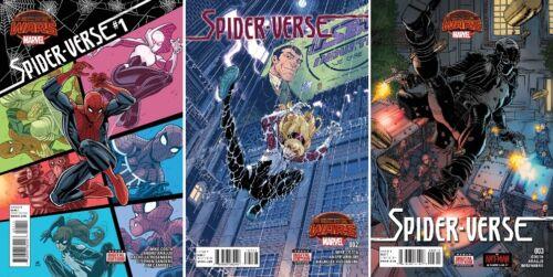 2015 MARVEL COMICS SECRET WARS SPIDER-VERSE #1 2 3  1ST PRINT SPIDER-GWEN