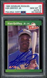 Ken Griffey Jr 1989 Donruss The Rookies RC PSA 10 Auto Grade Mint 9 PSA 63156028