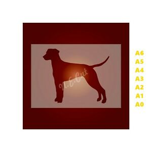 DALMATIAN-Dog-Stencil-Strong-350-micron-Mylar-not-Hobby-stuff-DOGS056