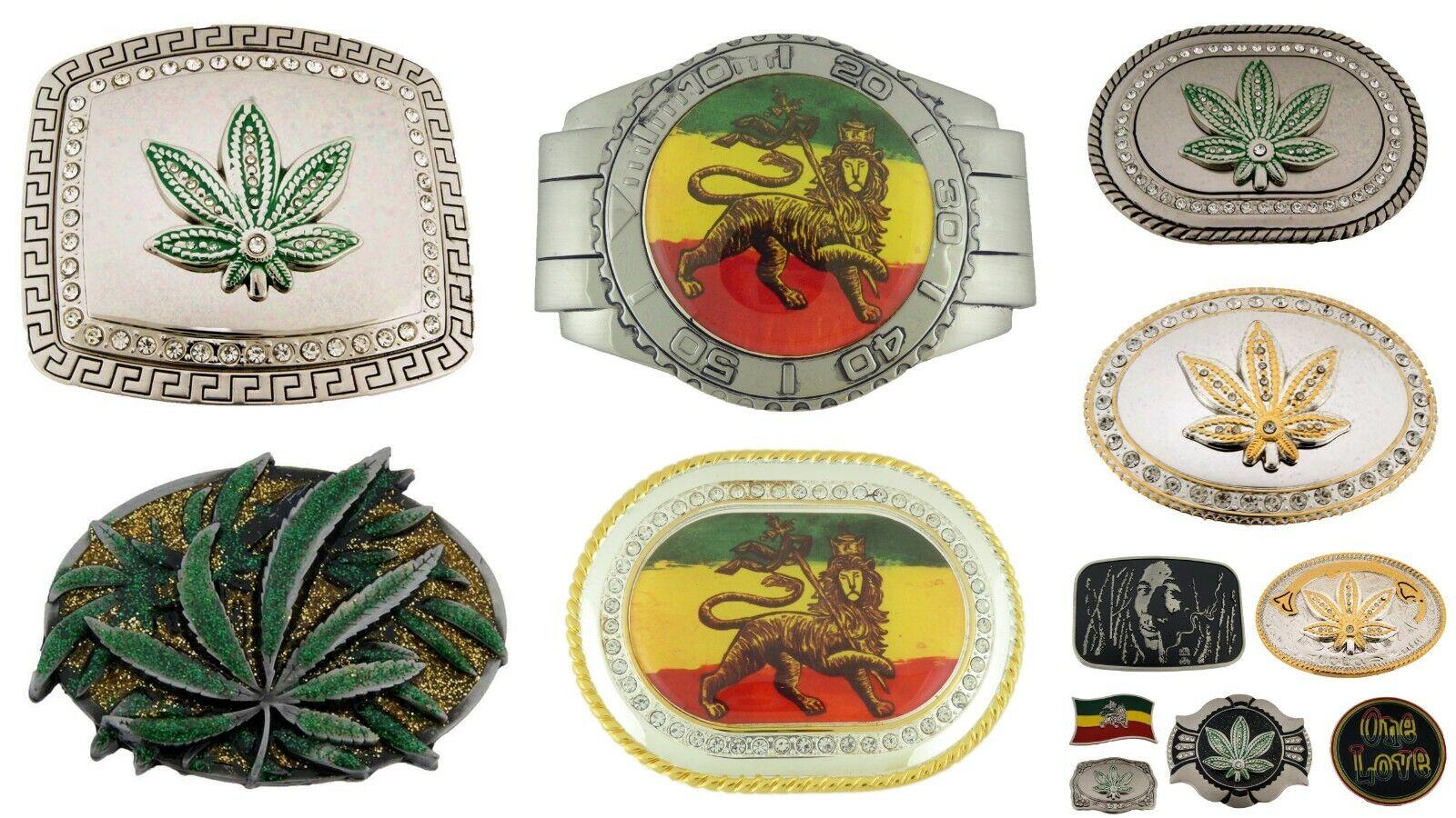 12 Stück Rastafari Reggae Löwe Judah Dub Gürtelschnalle Großhandel Lot Gras Mode