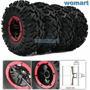 4pcs RC Inflatable Tires & 2.2 Beadlock Wheel & Air Pump For 1/10 RC 4WD Crawler