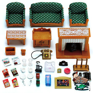 Calico Critters Deluxe Living Room Furniture Set Cc2263 Ebay