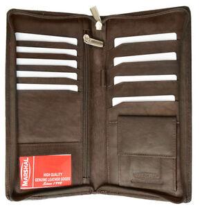 RFID-Blocking-Leather-Travel-Wallet-Passport-Air-Ticket-Check-ID-Zip-Holder