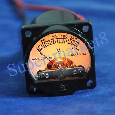 300V AC Panel Meter Warm Light Tube Amplifier Volt Voltage Voltmeter