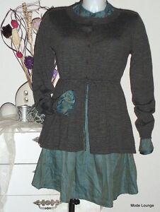 NOA-NOA-Veste-Notting-tricote-Taille-L-40-laine-laine-CHIMNEY-melange