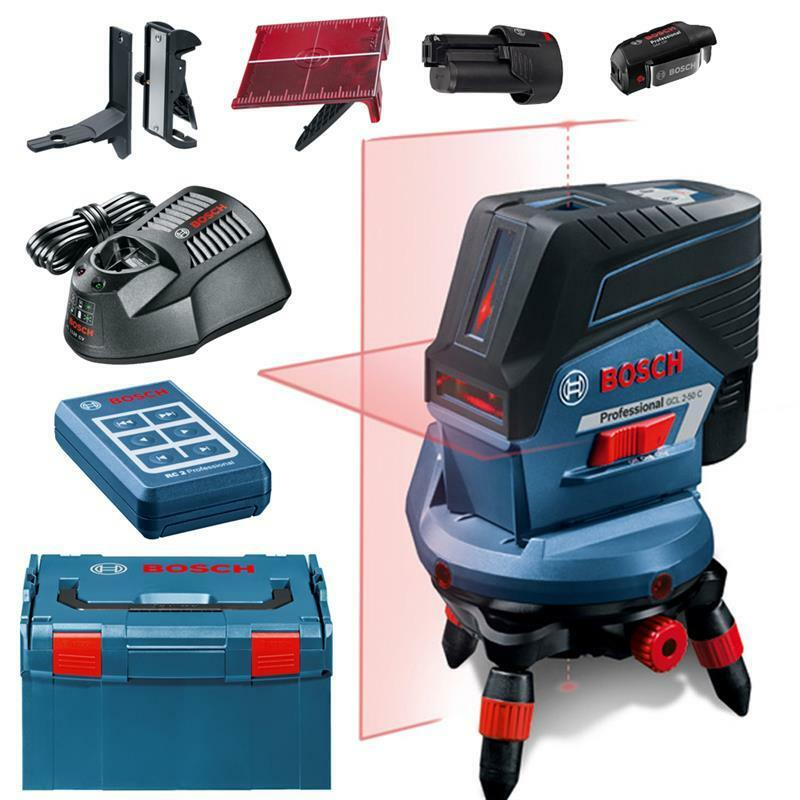 Bosch Kombi-Laser Kreuzlinienlaser GCL 2-50 CG inkl. L-Boxx , RM2, 2xAkku, Lader