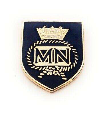 Merchant Navy MN Shield Lapel Pin badge Gift Idea Free UK P/&P