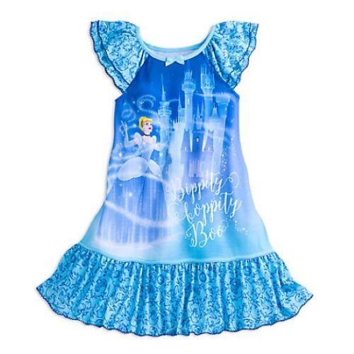 NWT Disney Store Princess Cinderella Nightgown Nightshirt Girls 5 6