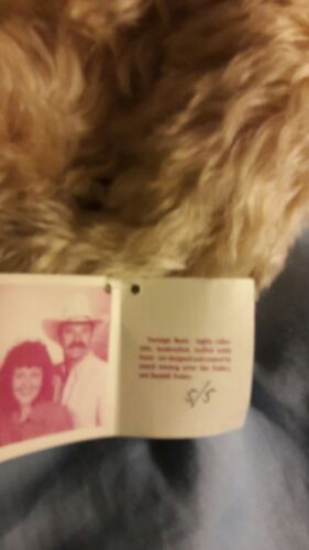 Sonstige Rare Sue and Randall Foskey signed Nostalgic Bear 14 Pink Bow 5/5