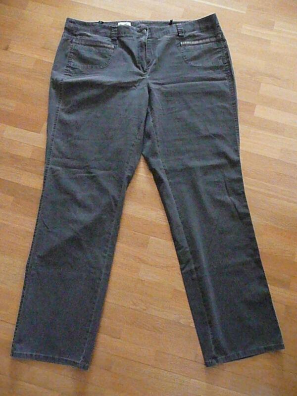 Begeistert Jeans Hose Gr. 48 Leichter Stoff Braun