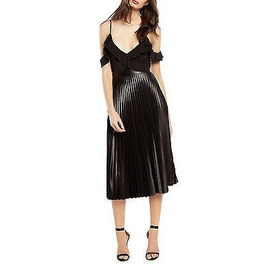 NEW Bardot Rada Pleat Skirt Black