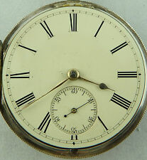 Antique silver enamel dial lever pocket watch HM 1875 NOT WORKING