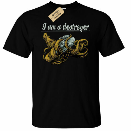 Kraken Destroyer T-Shirt Mens squid octopus sea creature Cthulhu