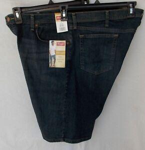 New Men/'s Wrangler 606WFXD 5 Pocket Flex Relaxed Comfort Denim Short Dark Wash