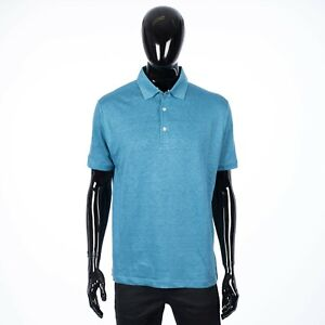LORO-PIANA-550-Classic-Polo-Shirt-In-Blue-Linen-Jersey