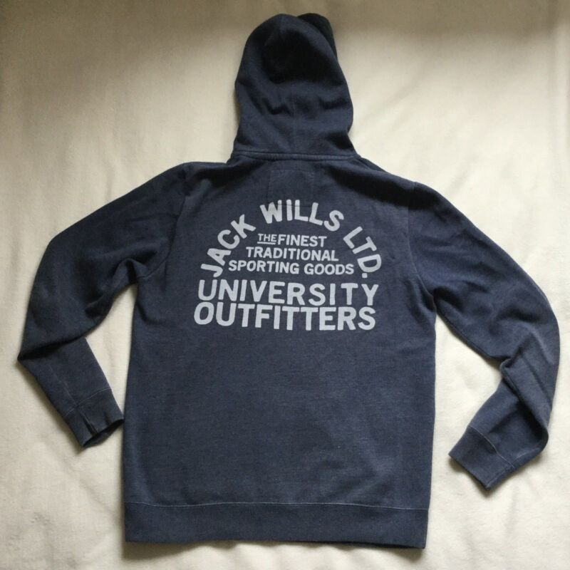 Jack Wills University Outfitters Light Blue Hoodie Small Size S