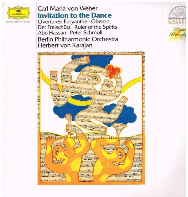 Weber: Invitation to Dance, Oberon, Euryanthe/Karajan, Berlin Philharmonic - LP