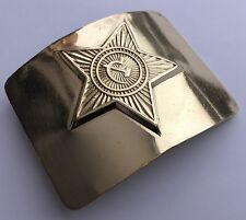 Original WW2 USSR Russian Red Army Brass Belt Buckle In Excellent Condition
