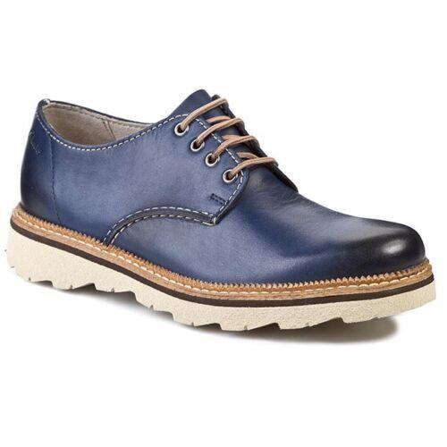 Clarks Homme ** Smart Frelan Walk ** Lustré bleu en cuir ** UK 8,8 .5 9,9 .5 G
