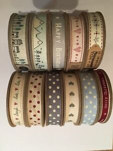 EAST OF INDIA 3 METRE ROLLS GIFT WRAPPING EVERYDAY CHRISTMAS RIBBON
