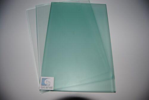 ESG-Glas Float grün 6mm Kanten gesäumt 1 m²