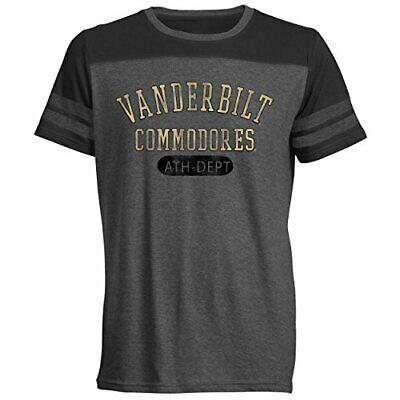 Medium Black Original Retro Brand NCAA Vanderbilt Commodores Womens Slub V Neck Tee