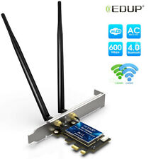 PCIe EDUP WiFi Card AC1200Mbps 2.4GHz//5GHz Dual Band PCI Express Wireless Adapter Network Card with 2/×6dBi External Antenna for Desktop