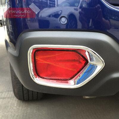 Chrome Rear Fog Light Trim Lamp Frame Cover for Honda Accord Sedan mk9 2013-2014