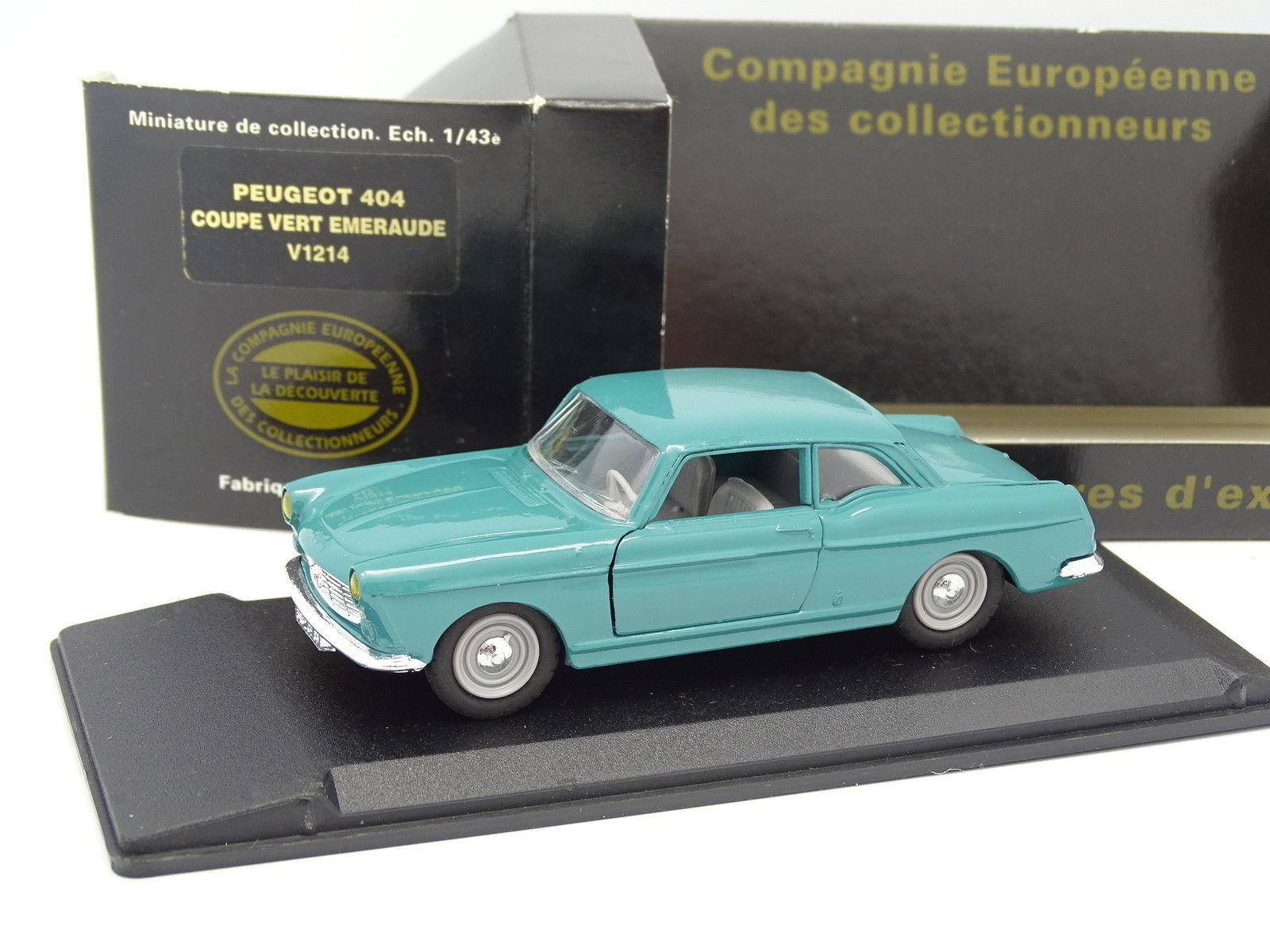 Eligor CEC 1 43 - Peugeot 404 Coupe Green