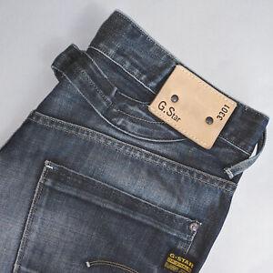 Détails sur Vintage GSTAR 3301 Jeans Indigo Bleu Foncé Coupe Droite Homme W 29 L 31 afficher le titre d'origine